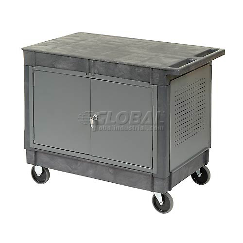 "Mobile Workcenter Maintenance Cart with 5"" Rubber Casters by"
