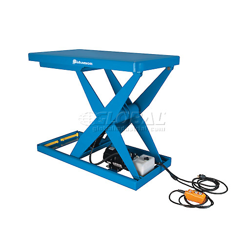 Bishamon OPTIMUS Lift3K Power Scissor Lift Table 48x28 3000 Lb. Cap. Hand Control L3K-2848 by
