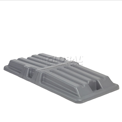 Gray Lid for 1 Cubic Yard Gray, Red, Black & Recycling Blue Deluxe Plastic Tilt Trucks by