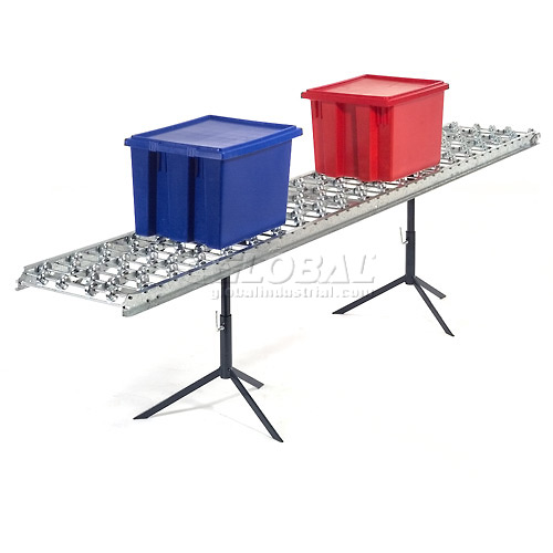 Omni Metalcraft Aluminum Skate Wheel Conveyor Straight Section WAHS3-24-24-10 by