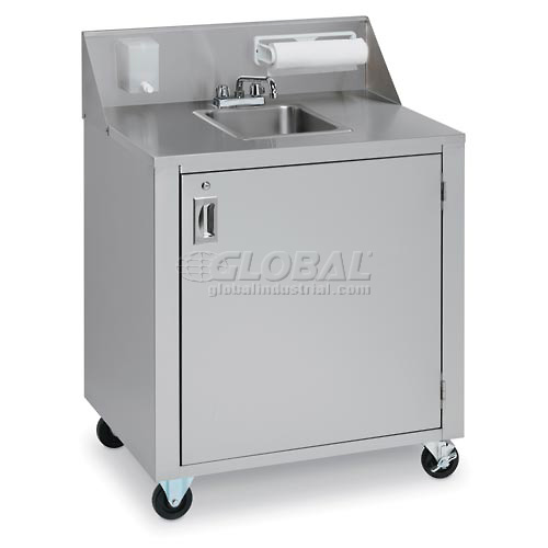 Crown Verity CVPHS-1 Single Bowl Portable Hand Sink Cart by