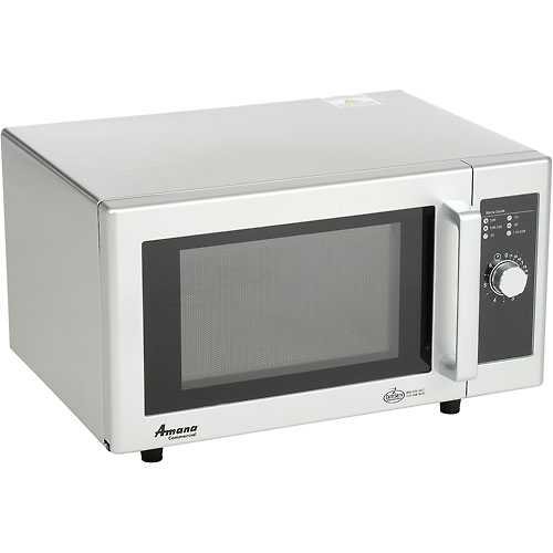 Amana RMS10DS Microwave Oven, Commercial, 0.8 Cu. Ft., 1000 Watt, Dial Control, Stainless... by