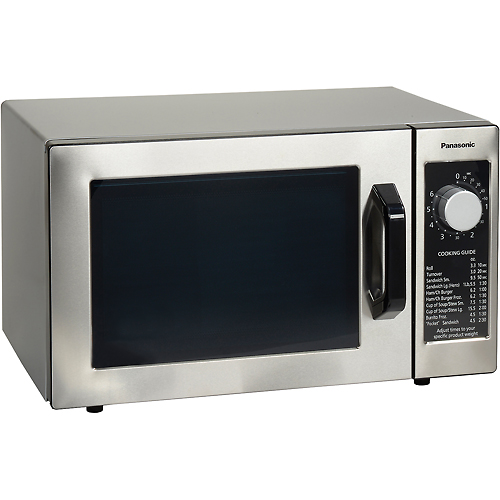 Panasonic NE-1025 Microwave Oven, 0.8 Cu. Ft. 1000 Watt, Dial Control, Commercial Unit by