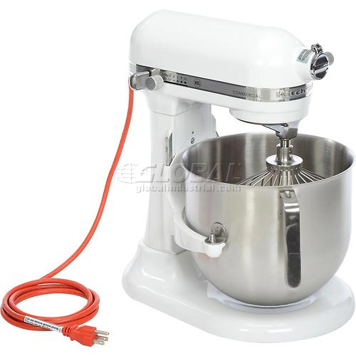 KitchenAid KSM8990WH Commercial 8 Qt. Bowl Mixer, White by
