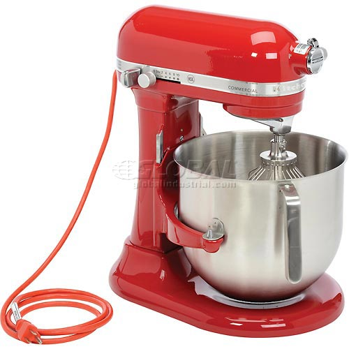 KitchenAid Commercial 8 Qt. Bowl Mixer Empire Red KSM8990ER by