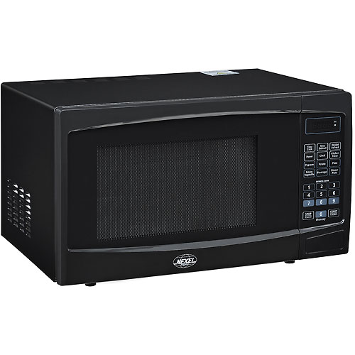 NEXEL Best Value Countertop Microwave Oven, 1.1 Cu. Ft., 1000 Watts, Touch Control, Black by