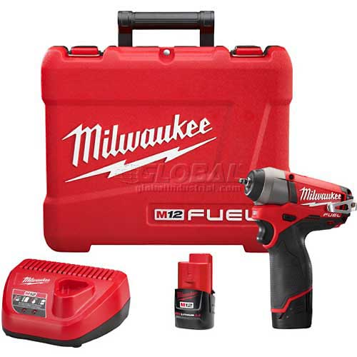 "Milwaukee 2452-22 M12 FUEL 1/4"" Drive Impact Wrench Kit by"