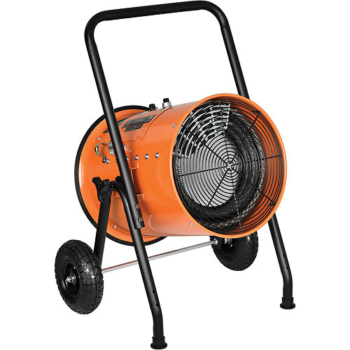 Electric Salamander Heater 30 KW Portable Fan Forced 480V 3 Phase 36 Amps by Salamander Heaters