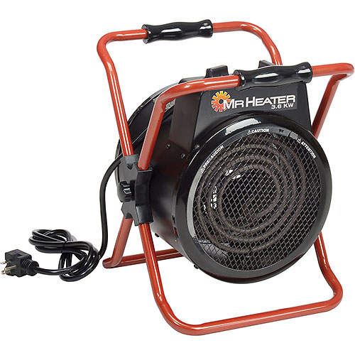 Mr. Heater MH360FAET Portable Electric Forced Air Heater Garage & Space Heater 3600W, 240V by