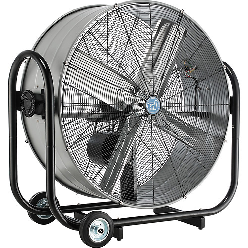 36 Inch Portable Tilt Drum Blower Fan Belt Drive by