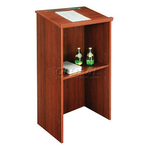 "Stand-Up Podium / Lectern, 23""W X 15-3 / 4""D X 45-7 / 8""H, Mahogany by"