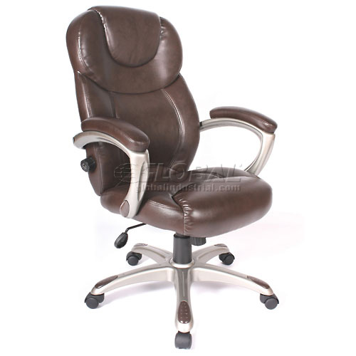 Granton Leather Chair With Adjustable Lumbar Support by