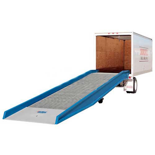 "Bluff 16SYS8436L Steel Yard Ramp Forklift Dock Ramp 36'Lx84""W 16,000 Lb. with Ramp Clamps by"