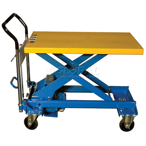 Southworth Dandy Lift A-500 Mobile Scissor Lift Table 1100 Lb. Capacity by