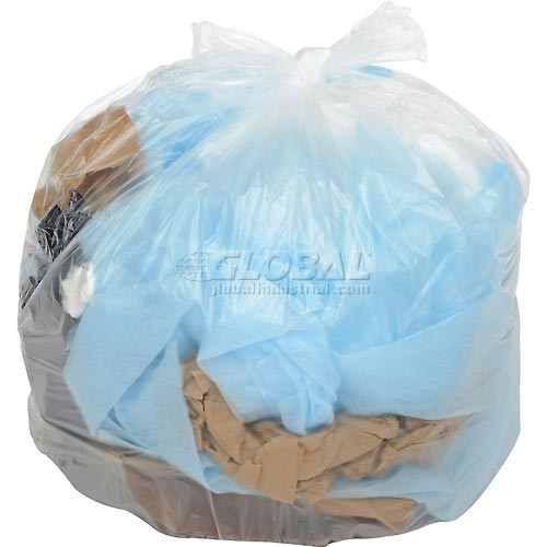 Global Industrial Light Duty Natural Trash Can Liners-12 to 16 Gal, 5.4 Mic,1000/Case by
