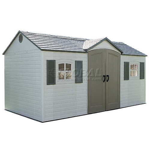 Lifetime Storage Shed 15' x 8' Front Entry With Windows by
