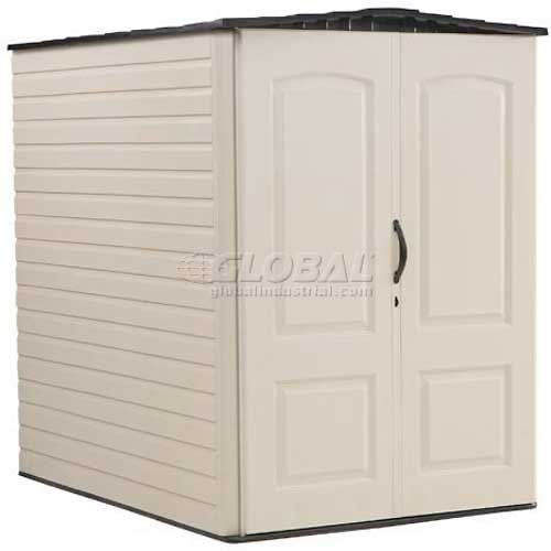 "Rubbermaid Large Storage Shed FG5L3000SDONX, 4'4""W X 6'D X 6'H by"