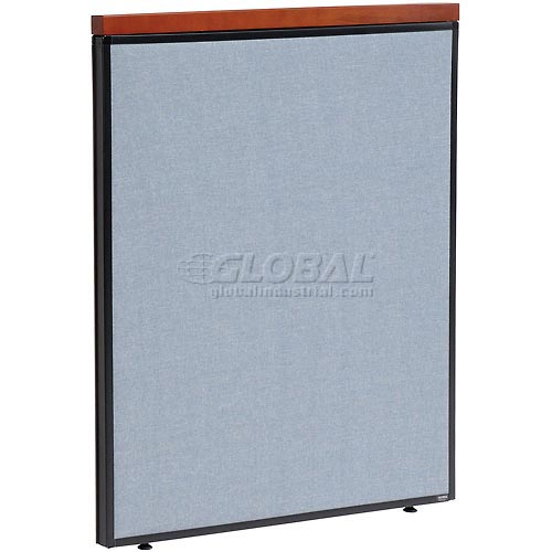 "Deluxe Office Partition Panel, 36-1/4""W x 43-1/2""H, Blue by"