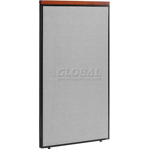 "Deluxe Office Partition Panel, 36-1/4""W x 61-1/2""H, Gray by"