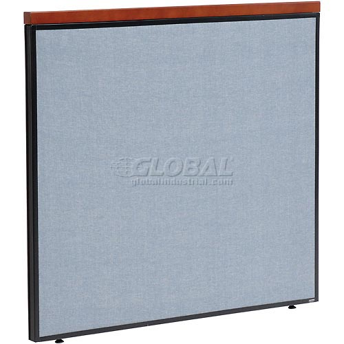 "Deluxe Office Partition Panel, 48-1/4""W x 43-1/2""H, Blue by"