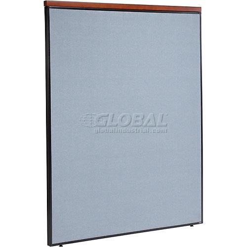 "Deluxe Office Partition Panel, 60-1/4""W x 73-1/2""H, Blue by"