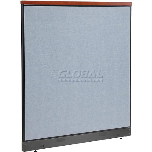"""Interion Deluxe Office Cubicle Panel with Pass Thru Cable, 60-1/4""""W x 65-1/2""""H, Blue by"""