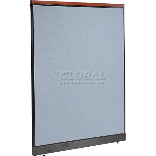 "Deluxe Office Partition Panel with Pass Thru Cable, 60-1/4""W x 77-1/2""H, Blue by"