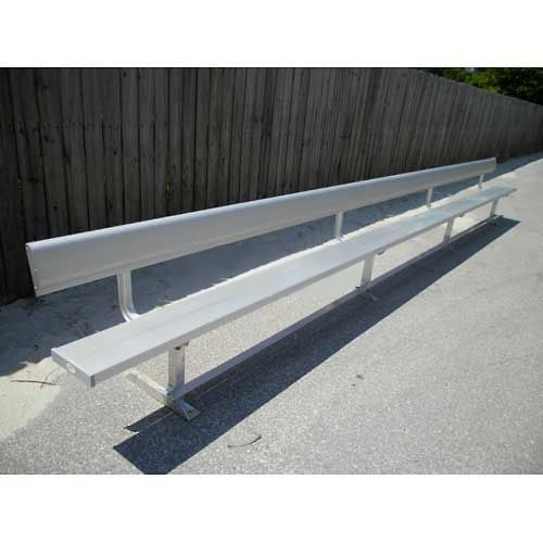 21' Aluminum Park Bench With Back, Portable and/or Surface Mount by