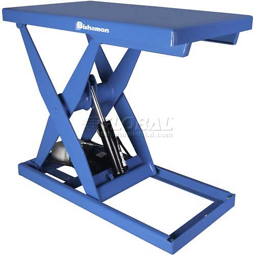 Bishamon OPTIMUS Lift3K Power Scissor Lift Table 48 x 28 3000 Lb. Cap. Foot Control L3K-2848 by
