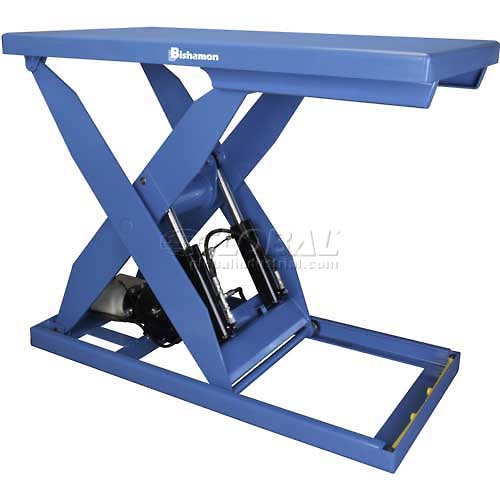 Bishamon OPTIMUS Lift5K Power Scissor Lift Table 72x48 5000 Lb. Cap. Foot Control L5K-4872 by