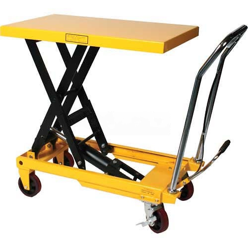Wesco Mobile Heavy Duty Scissor Lift Table 272973 2200 Lb. Capacity by