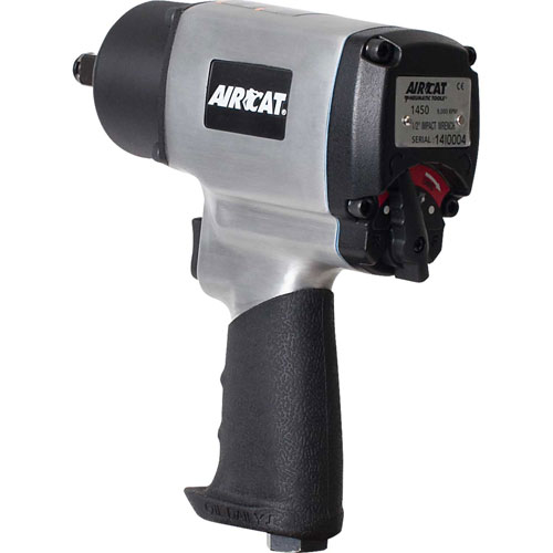 "AIRCAT 1450 1/2"" Twin Hammer Impact Wrench 9,000 RPM 800 ft-lb Max Torque by"