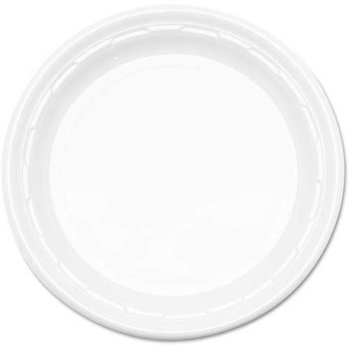 """Dart Famous Service Impact Plastic Dinnerware, Plate, 10 1/4"""", White by"""