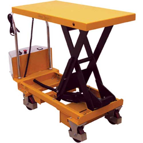 Wesco Battery Powered Lift Scissor Lift Table 273711 1100 Lb. Capacity by
