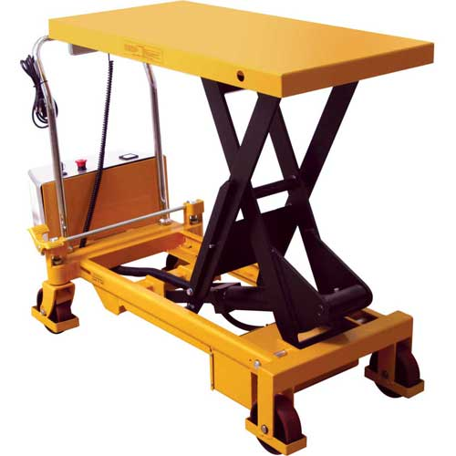 Wesco Battery Powered Lift Scissor Lift Table 273712 1650 Lb. Capacity by