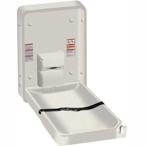 ASI Vertical Plastic Baby Changing Station, Light Gray 9015 by