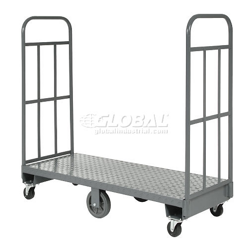 Click here to buy Best Value Steel Deck High-End Narrow Aisle U-Boat Platform Truck 60 x 16 1500 Lb. Capacity.