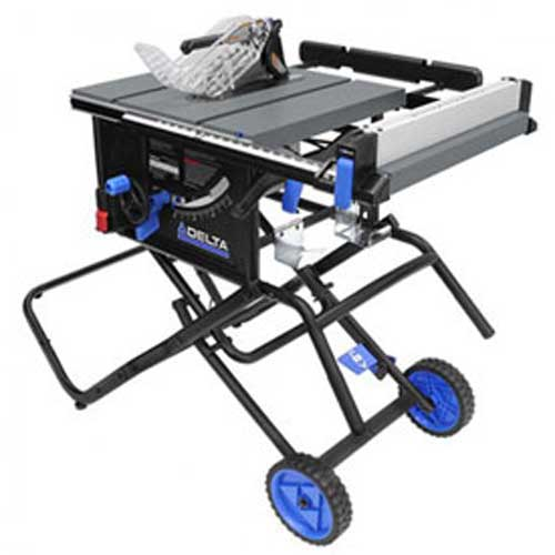 """Click here to buy Delta 36-6020 10"""" Portable Table Saw with Stand."""