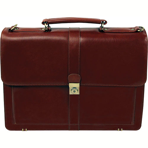 "Bond Street 367061 Leather Executive Briefcase, 15.6"" Computer Case, Cognac by"