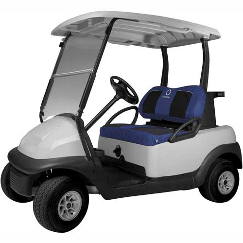 Classic Accessories Fairway Golf Car Set Cover Neoprene Paneled, Navy 40-035-015501-00 by