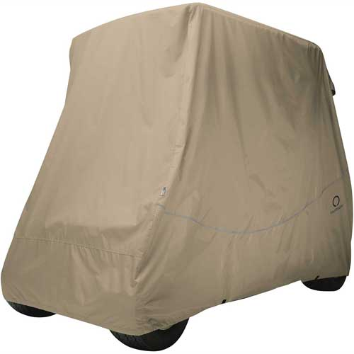 Classic Accessories Fairway Golf Car Quick-Fit Cover, Long Roof, Khaki 40-041-345801-00 by