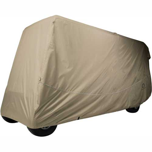 Classic Accessories Fairway Golf Car Quick-Fit Cover, 6 Pass, X Long Roof, Khaki 40-042-345801-00 by