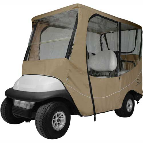 Classic Accessories Fairway Travel Golf Car Enclosure, Long Roof, Khaki 40-046-345801-00 by