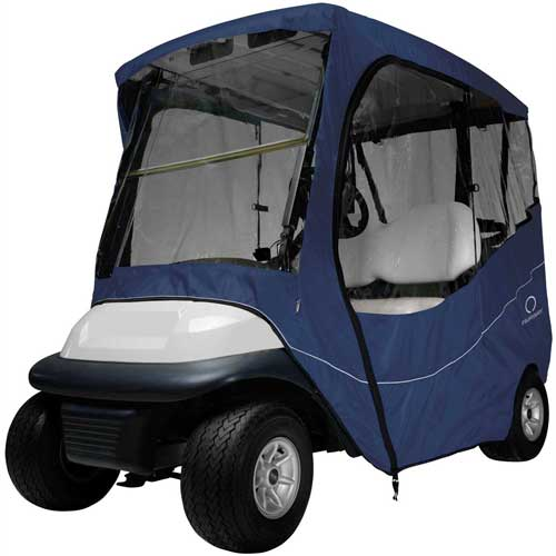 Classic Accessories Fairway Travel Golf Car Enclosure, Short Roof, Navy 40-047-335501-00 by