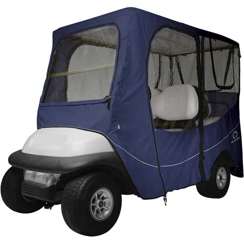 Classic Accessories Fairway Deluxe Golf Car Enclosure, Long Roof, Navy 40-053-345501-00 by