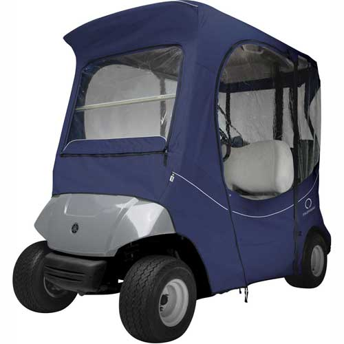Classic Accessories Fairway The Drive Yamaha Golf Car Enclosure, Navy 40-057-335501-00 by