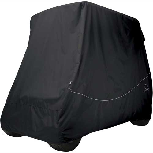 Classic Accessories Fairway Golf Car Quick-Fit Cover, Long Roof, Black 40-064-340401-00 by