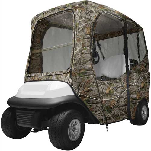 Classic Accessories 40-066-016001-RT Fairway Deluxe Next Vista G1 Camo Golf Cart Enclosure by