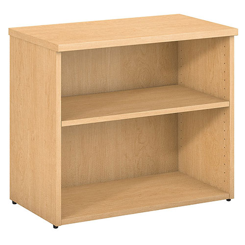 Bush Furniture 2 Shelf Bookcase Natural Maple 400 Series by