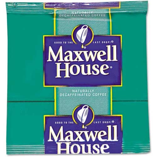 Maxwell House Coffee Filter Packs, Decaffeinated, 0.7 oz., 100/Carton by